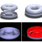 Projekt Julii Górki - Zwijacz dosłuchawek wkształcie donuta - kilka renderingów zprogramu 3D